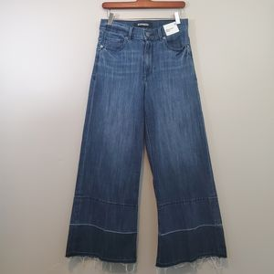 NWT Express Culottes High Waist Cropped Jeans Sz 6